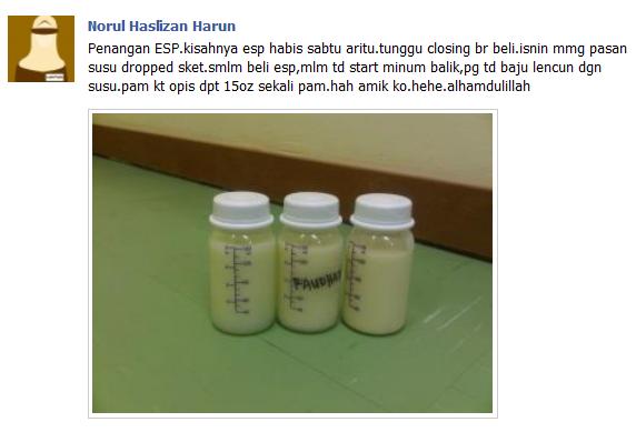Testimonial 2 ~ ESP Membanyakkn susu ibu