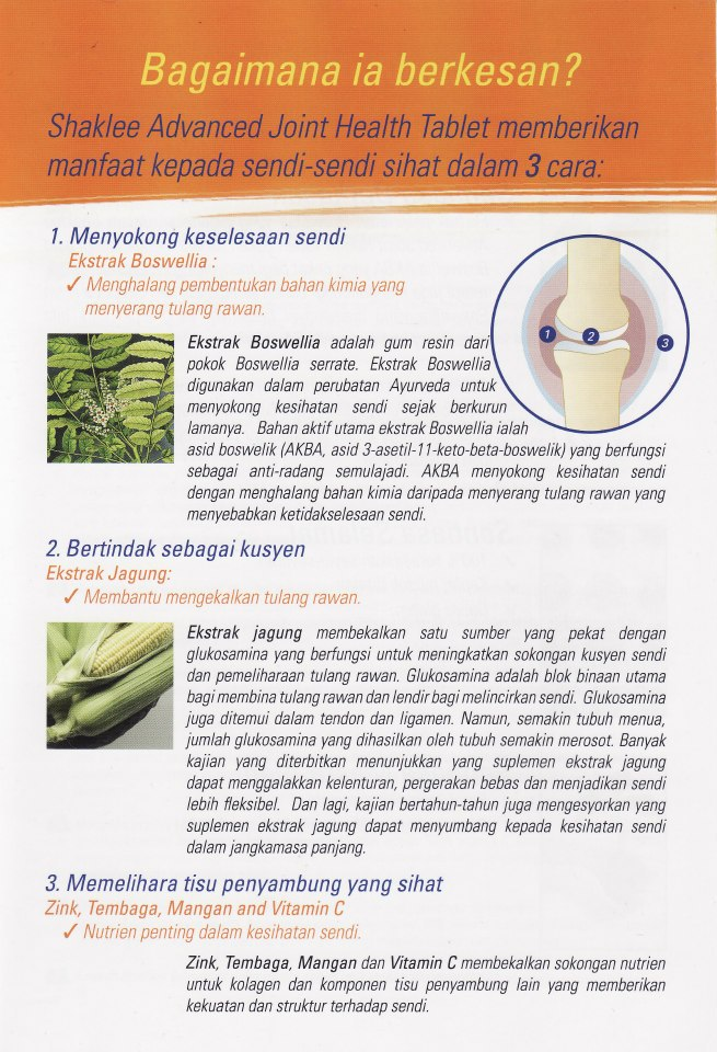JHT6 Hilangkan Sakit Sendi Anda dengan Advanced Joint Health Tablet