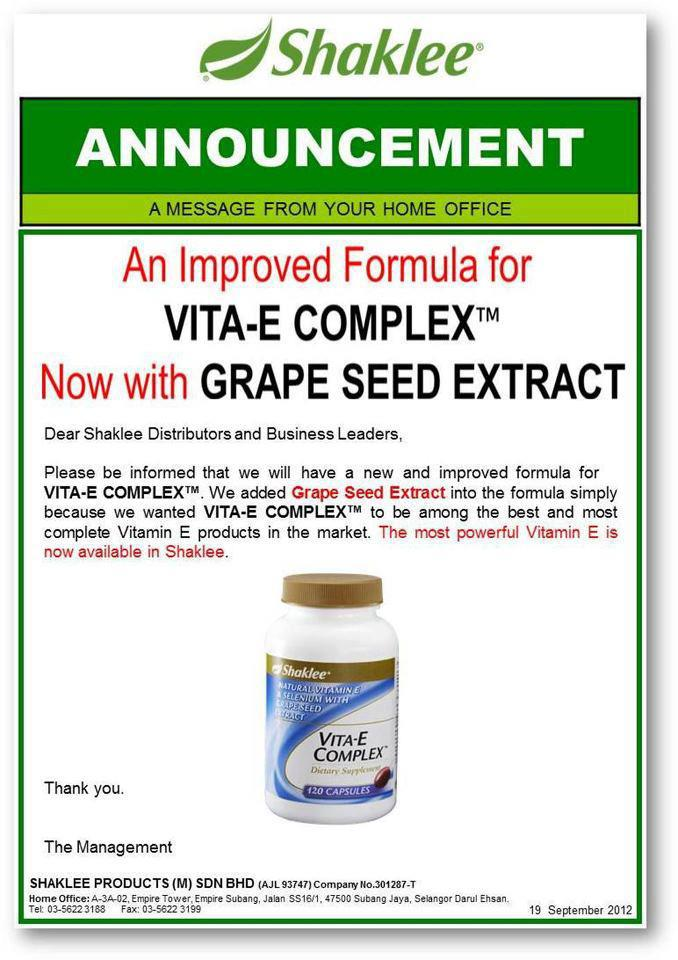 Vitamin E with Grape Seed Extract