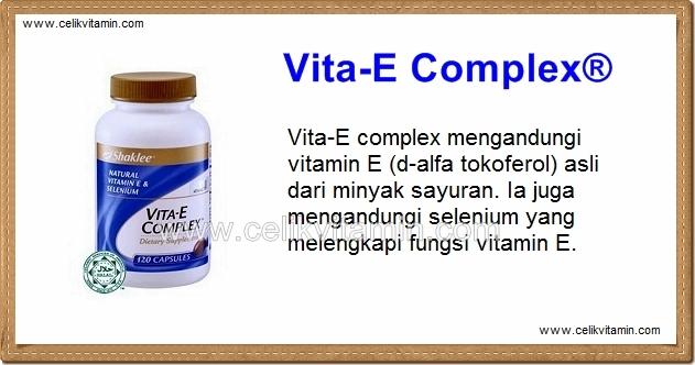 Vita E Complex Shaklee Celikvitamin