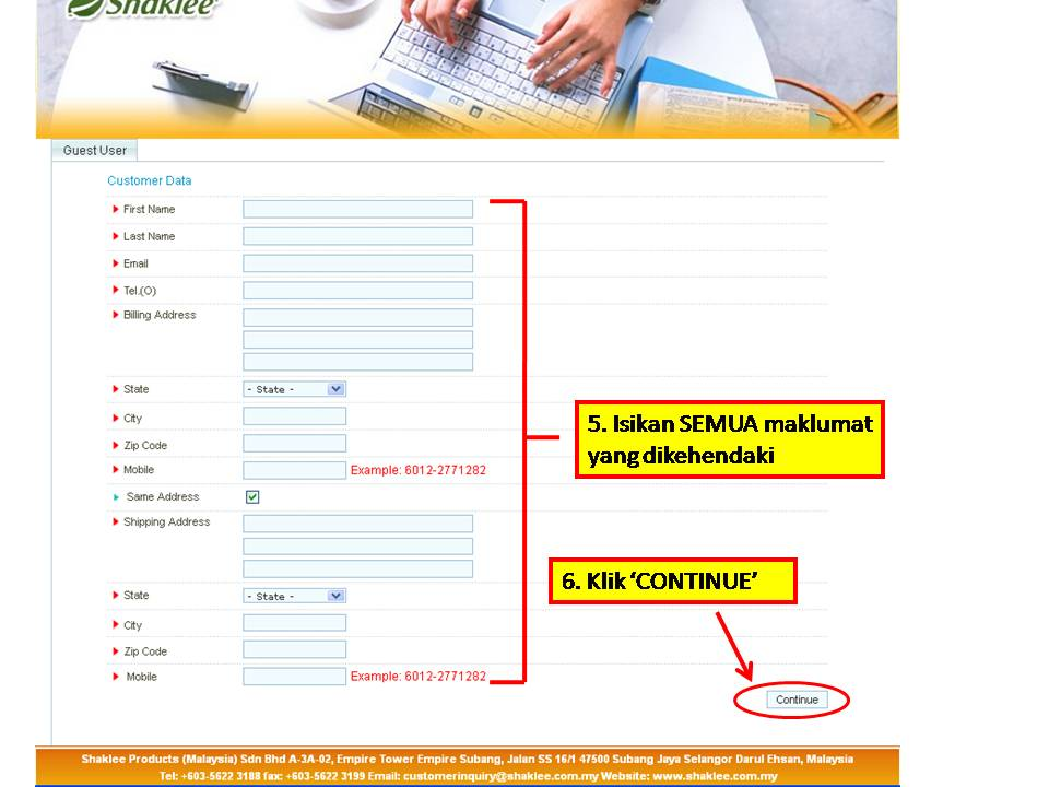 3 Panduan MUDAH Untuk Pelanggan Membuat Pembelian Produk Shaklee Secara Online