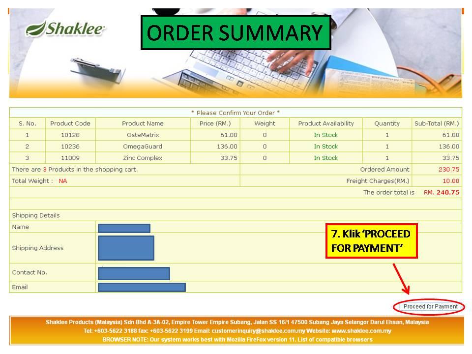 4 Panduan MUDAH Untuk Pelanggan Membuat Pembelian Produk Shaklee Secara Online
