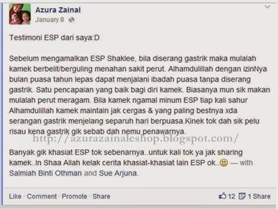 testimonial ESP Shaklee